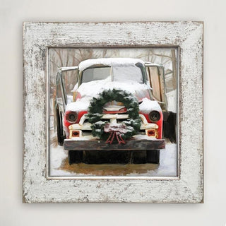 Chevy Truck with wreath Large / White