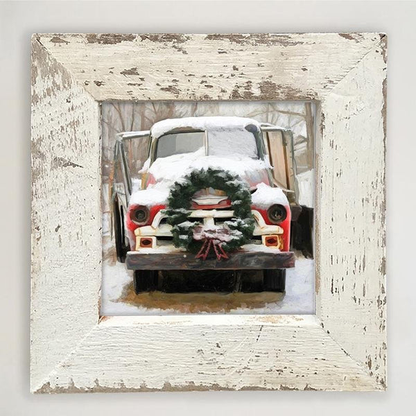 Chevy Truck with wreath Small / White