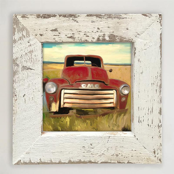 Red GMC Small / White