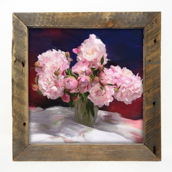 Springtime Bouquet of Peonies Large / Natural