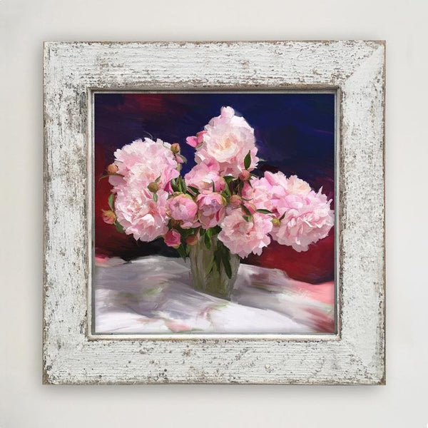 Springtime Bouquet of Peonies Large / White