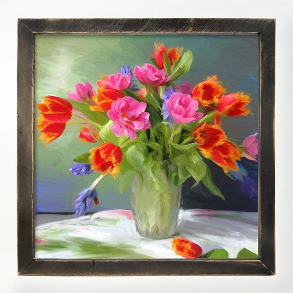 Springtime Bouquet of Tulips XL / Black