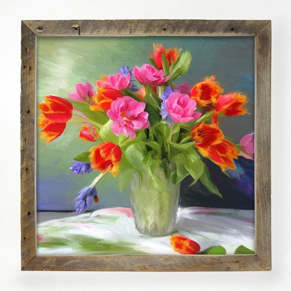Springtime Bouquet of Tulips XL / Natural