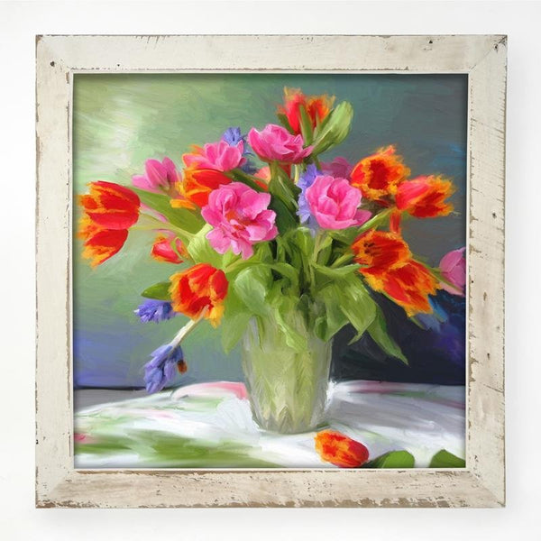 Springtime Bouquet of Tulips XL / White
