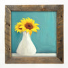 Sunflowers in white vase