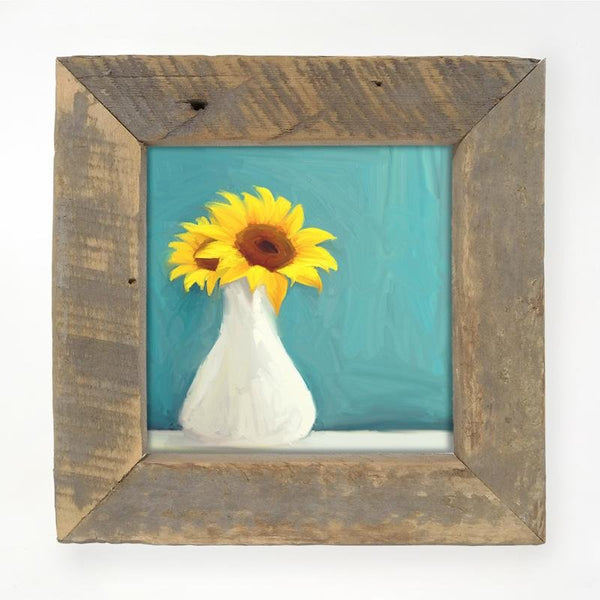 Sunflowers in white vase Small / Natural
