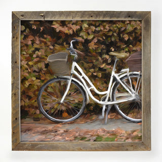 bike with fall leaves XL / White