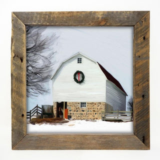 Barn with wreath Large / Natural