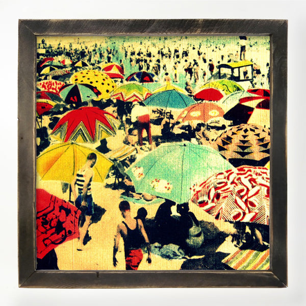 Vintage - Beach Umbrella XL / Black
