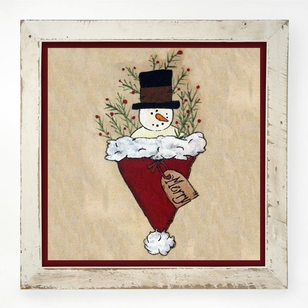 Snowman in Hat XL / White