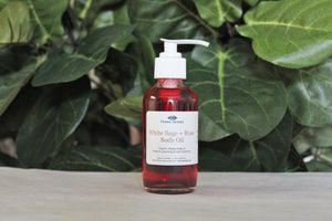 White Sage + Rose Body Oil