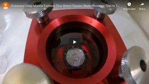 Oceaneva Deep Marine Explorer Tested to 1250M or 125 Bar With Water Pressure Tester