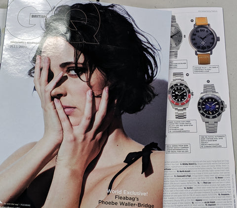 Oceaneva in July 2019 Issue of British GQ Magazine