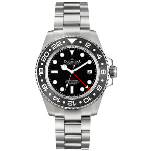 Oceaneva™ Men's Deep Marine Explorer 1000M Pro Diver Watch White Mother Of Pearl