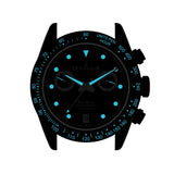 Oceaneva™ Men's WaveRacer™ 500M Pro Diver Black Dial Chronograph Watch