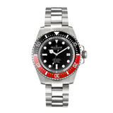 Oceaneva™ Men's Deep Marine Explorer 1000M Pro Diver Watch Black and Red