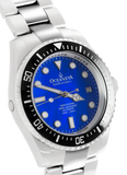 Oceaneva™ Men's Deep Marine Explorer 1000M Pro Diver Watch Blue Mother Of Pearl
