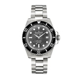 Oceaneva™ Men's Deep Marine Explorer II 1250M Pro Diver Watch Black Mother Of Pearl
