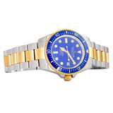 Oceaneva™ Men's Deep Marine Explorer 1000M Pro Diver Watch Blue and Gold