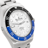 Oceaneva™ Men's Deep Marine Explorer II 1250M Pro Diver Watch White Dial