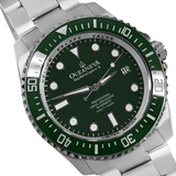 Oceaneva™ Men's Deep Marine Explorer II 1250M Pro Diver Watch Green and Green