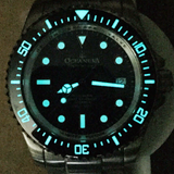 Oceaneva™ Men's Deep Marine Explorer 1000M Pro Diver Watch Black Ceramic Bezel