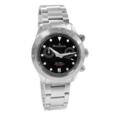 Oceaneva™ Men's WaveRacer™ 500M Pro Diver Black Dial Steel Bezel Chronograph Watch