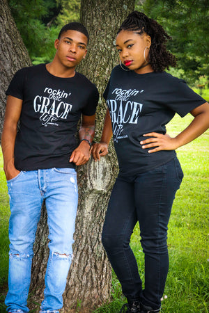 Rockin' That Grace Life tee for guys and girls (unisex tshirt). PHOTO BY: LifeThoughts Photography