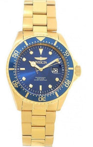 Invicta Pro Diver Men's 43mm Gold Watch with Quartz Movement Blue