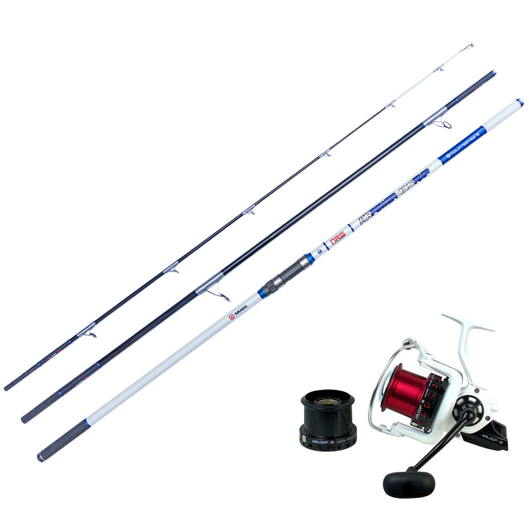 Best Surf Casting Combo - Akios Airloop R8 and AirPower Surf Rod - LURE ME - Online Fishing Tackle.