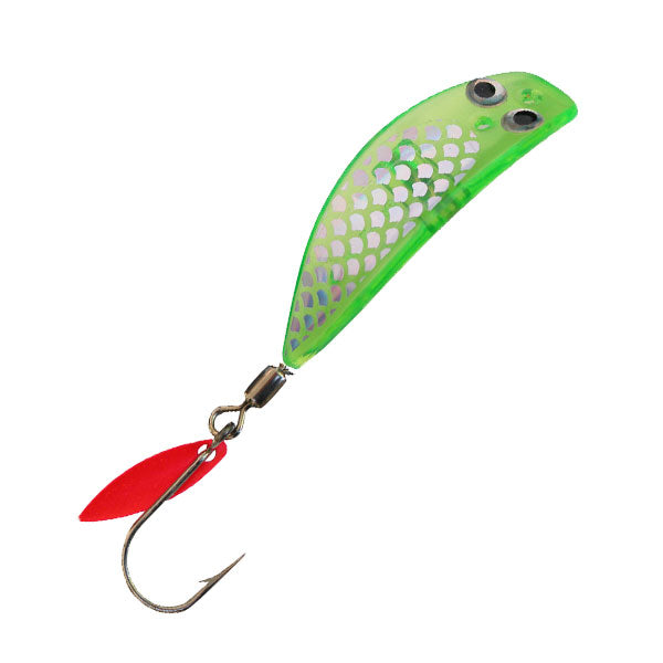 Trout Killer Trolling Lure - Holographic Chartreuse - LURE ME - Online Fishing Tackle.