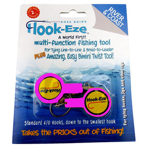 Hook Eze Fishing Knot Tying Tool - River and Coast Twin Pack in Pink - LURE ME - Online Fishing Tackle.