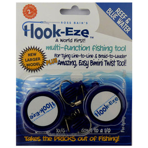 Large Hook Eze Fishing Knot Tying Tool - Reef and Blue Water Twin Pack in Blue - LURE ME - Online Fishing Tackle.