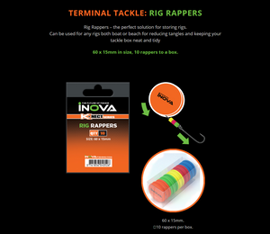INOVA Rig Rappers Foam Rig Winder Trace Storage Solution - LURE ME - Online Fishing Tackle.