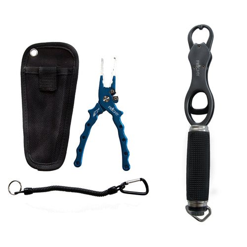 Large Fishing Pliers + Alloy Lip Grip Package Deal - LURE ME - Online Fishing Tackle.