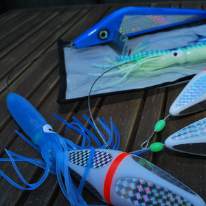 Richter Squid Teaser Set in Blue - Game Fishing Teasers - LURE ME - Online Fishing Tackle.