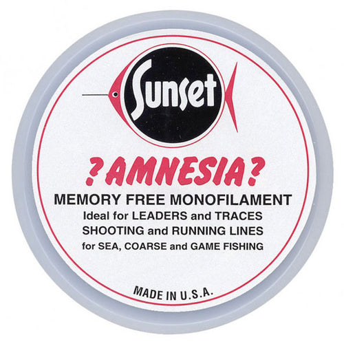 Sunset Amnesia Memory Free Monofilament Trace | 40lb / 18.2kg 100m - LURE ME - Online Fishing Tackle.