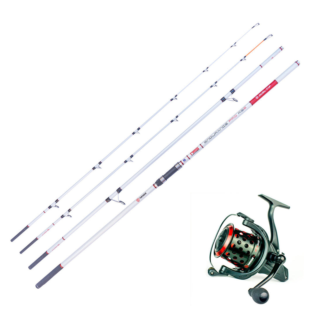 Surf Casting Combo - Akios Fireloop and Endurance Pro RS2 Dual Tip Rod - LURE ME - Online Fishing Tackle.