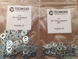 "Imperial 1/4"" flat and spring washers for classic car restoration"