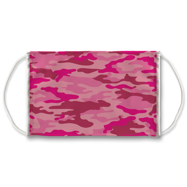 Pink Camo Sublimation Face Mask