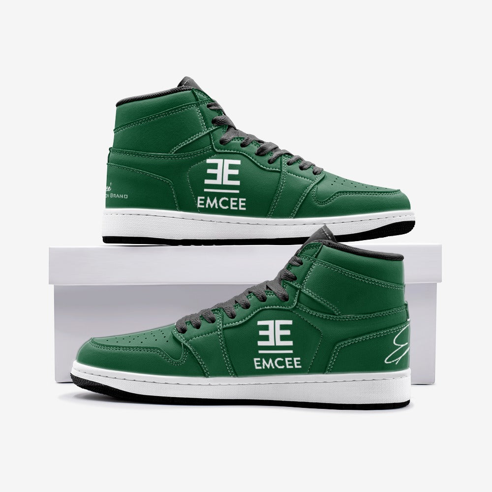 Emcee The One's Green Goblin's high top sneakers