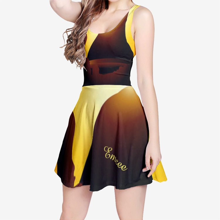 Emcee 'Desert Beauty Women's Sleeveless Midi Casual Flared Skater Dress