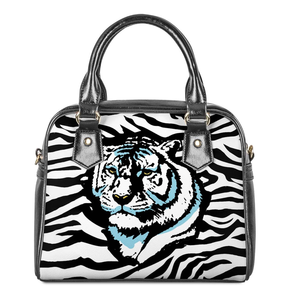Stripes of Winter - Shoulder Handbags