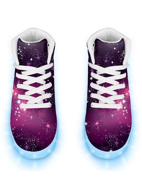 Emcee High Top Cosmic Sparkle - APP Controlled Low Top LED Shoe