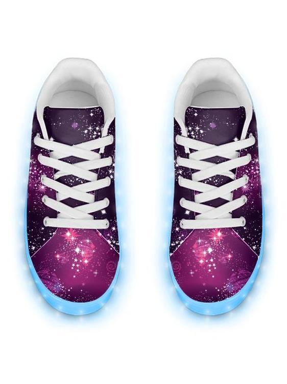 Emcee Cosmic Sparkle - APP Controlled Low Top LED Shoe