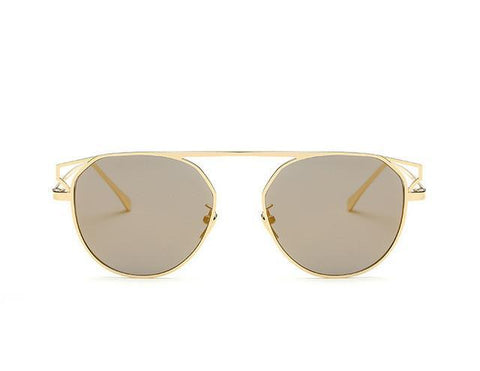 Round Frame Cat's Eye Sunglasses - GirlsThingShop