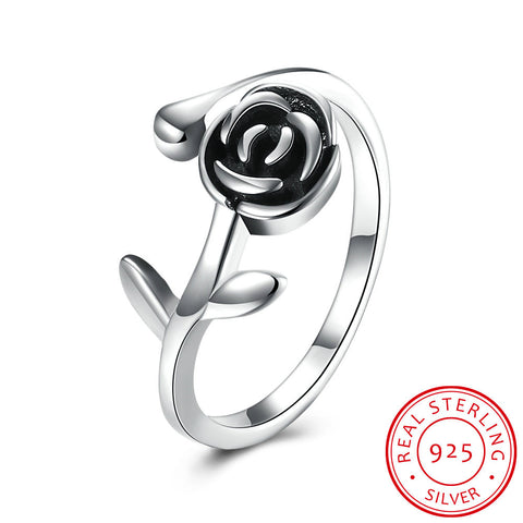 Sterling Silver  rose ring - GirlsThingShop