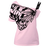 Oblique Shoulder T Shirt Butterfly - GirlsThingShop