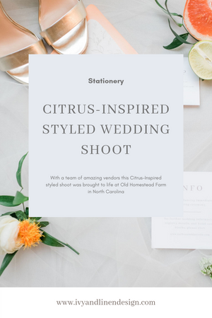 Citrus-Inspired Styled Shoot