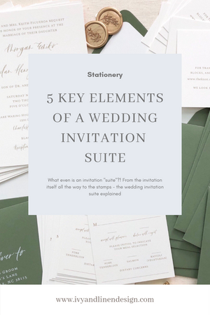 5 Key Elements of a Wedding Invitation Suite